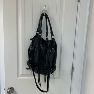 Urban outfitters black faux leather bag